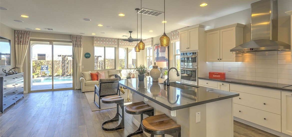 Interior view of a model home at Ambition at Eastmark