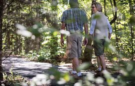 Couple Taking a Walk at Trilogy at Lake Norman