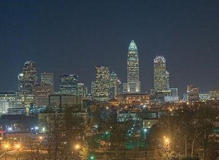 Charlotte, North Carolina night skyline