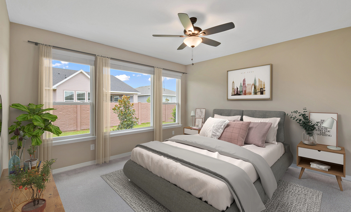 Trilogy at Ocala Preserve Virtually Staged Quick Move In  Master Bed