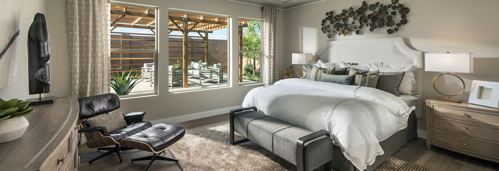 Master bedroom in the Flourish plan at Evolve at Cantilena in Arizona