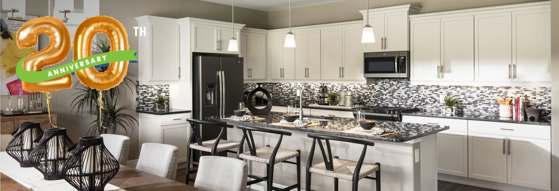 Picture of a kitchen in a model home at a Trilogy Community