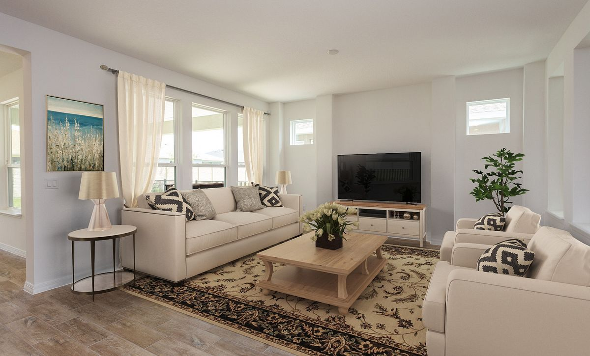 Virtually Staged Trilogy Orlando Homesite 5190 Great Room