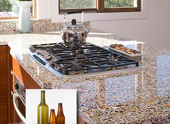 Vetrazzo countertops shown in a kitchen