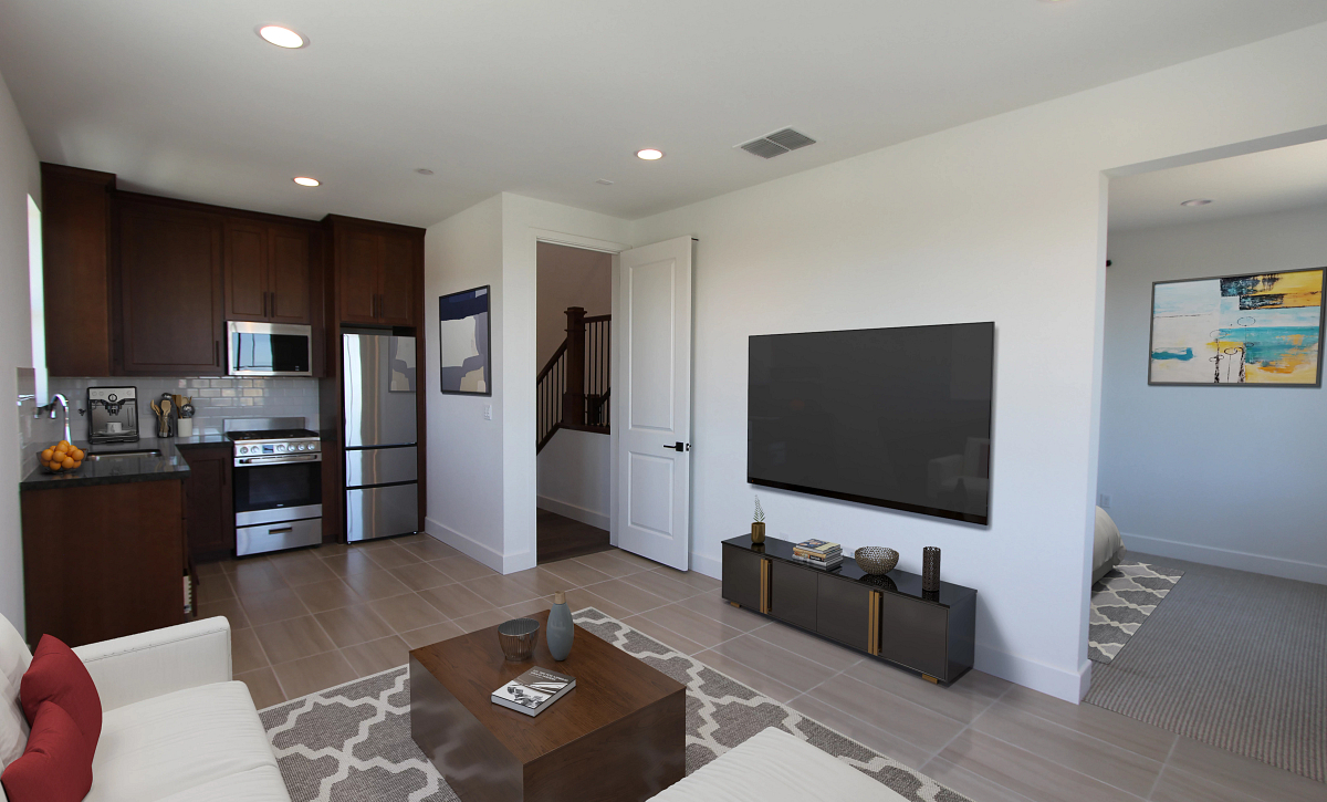 Plan 4 Guest Living Virtual Staging