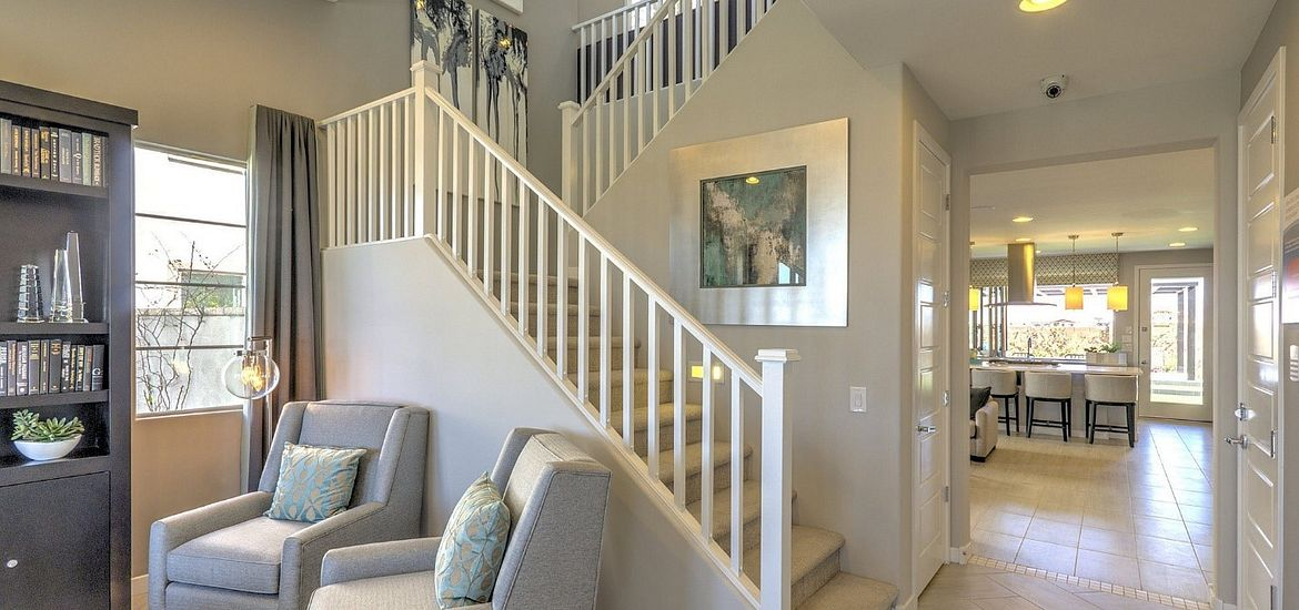 Interior view of entry of model home at Ambition at Eastmark