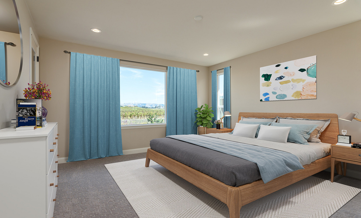 Trilogy Monarch Dunes Solvang Virtually Staged Master Bedroom