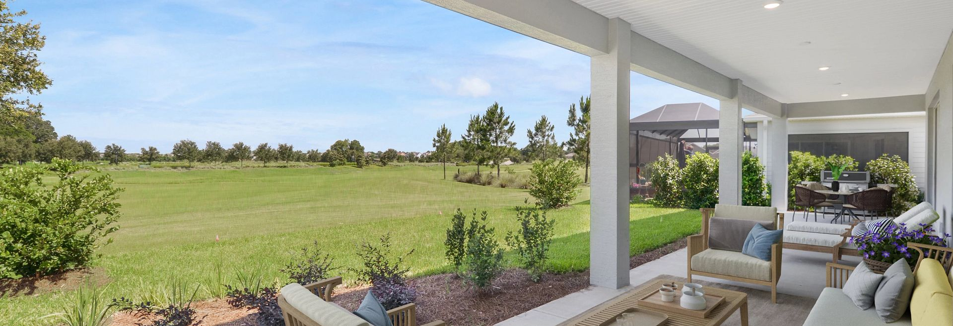 Trilogy at Ocala Preserve Liberty Quick Move In Virtually Staged Covered Lanai