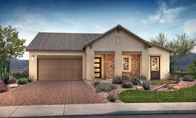 Plan 5012 Exterior C: Hill Country