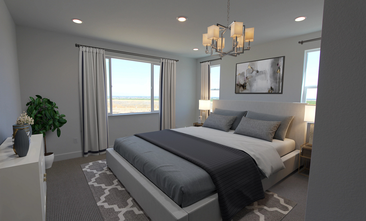 Plan 4 Primary Bed Virtual Staging