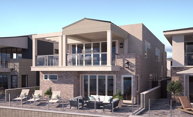 Ocean Place Plan 3B Cape Cod Exterior Elevation Rendering