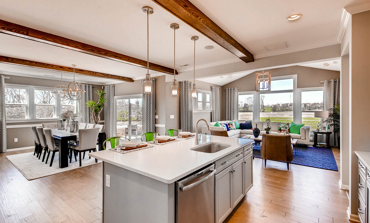 Kitchen, Family and Dining Rooms