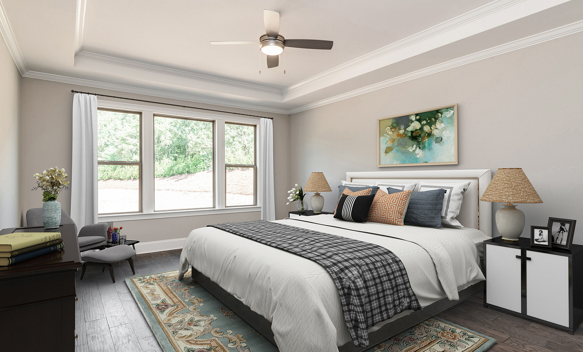 Sycamore Plan Owner's Suite staged