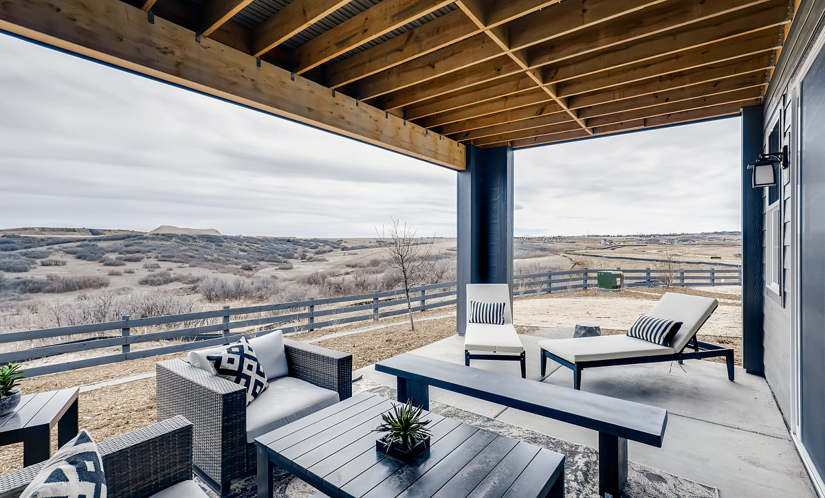 Canyons Retreat Enclave Covered Patio at Walkout Homesite