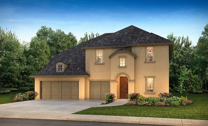 Plan 5069 Elevation C: French Country