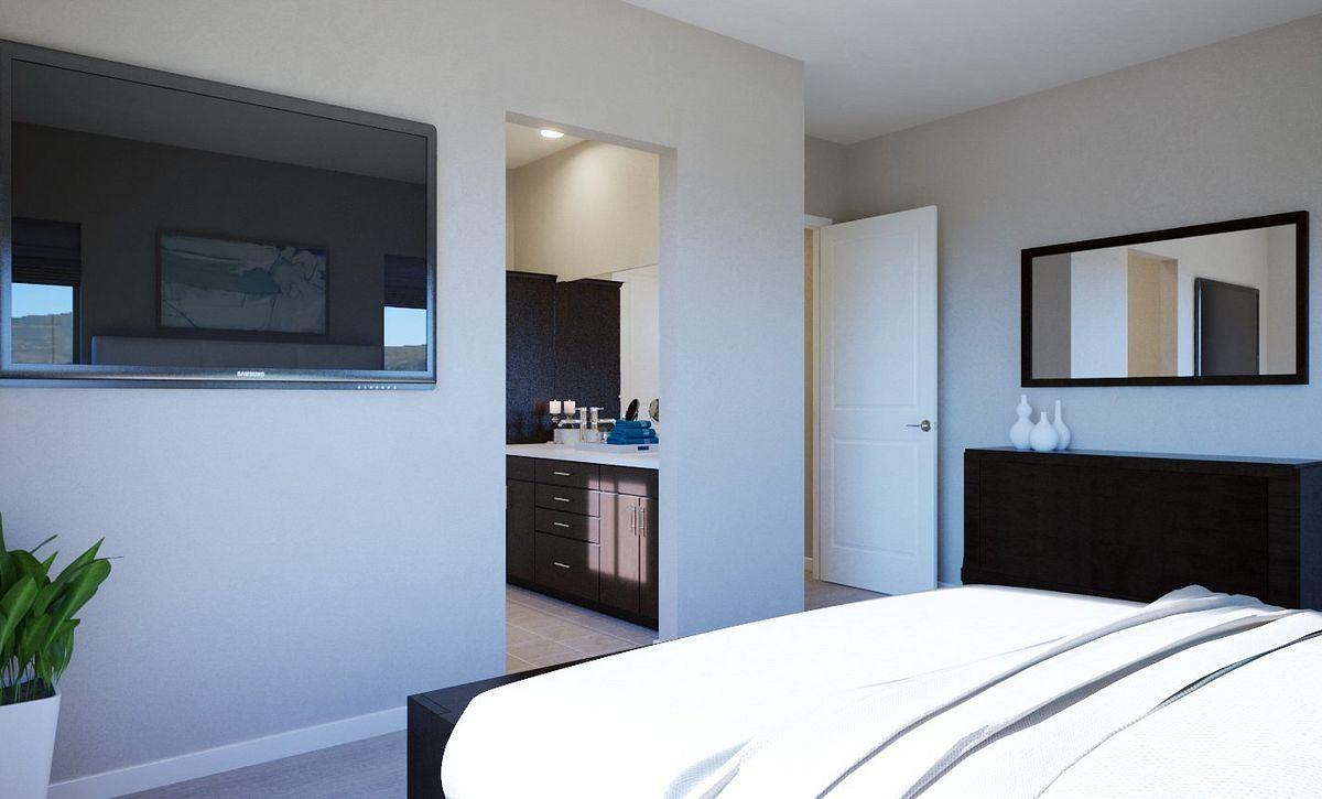 Trilogy Summerlin Inspire Master Bedroom Rendering