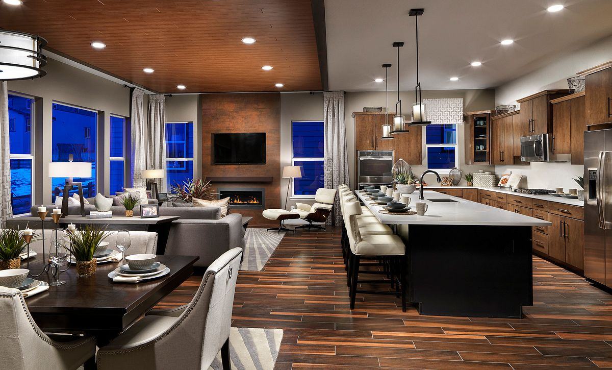 Stepping Stone Watercolor Cimarron Great Room & Kitchen