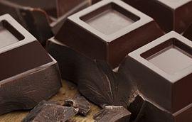Chocolate Blocks on table