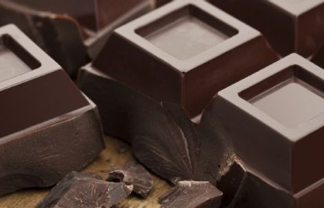 Chocolate Blocks on table