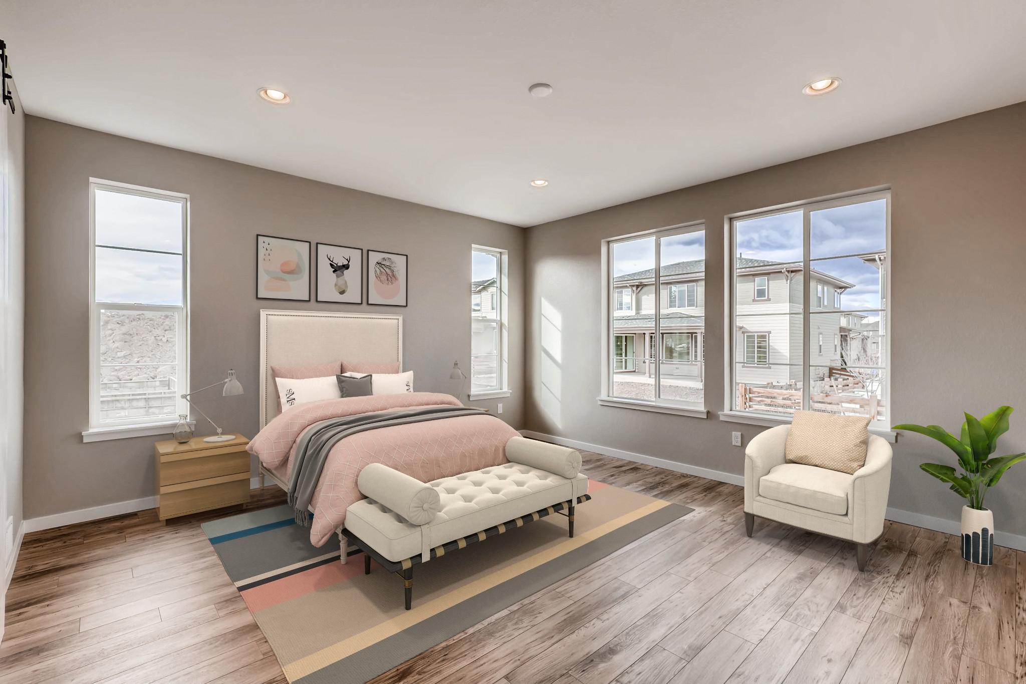Colliers Hill Peakview Suncatcher Master Bedroom