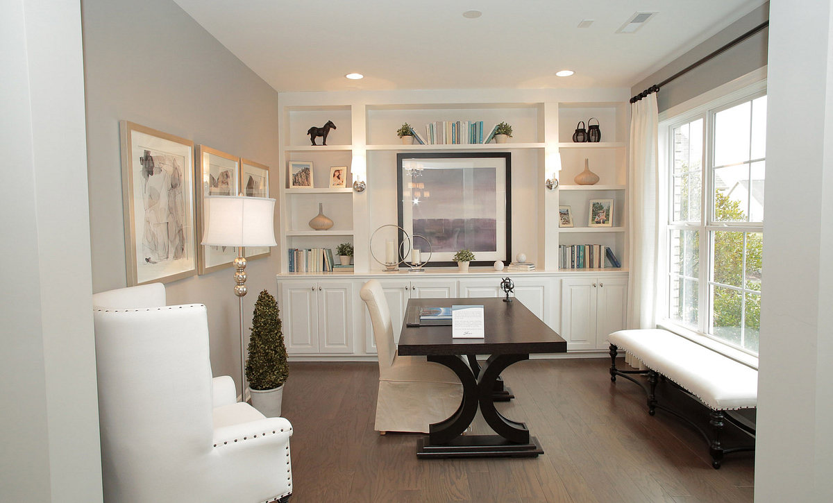 Calistoga plan Living Room with built-ins