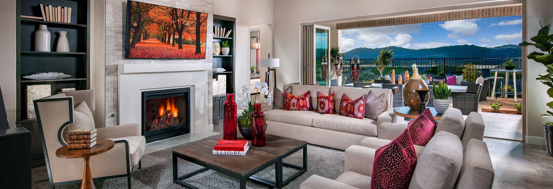 Alondra at Esencia Plan 2 Living Room