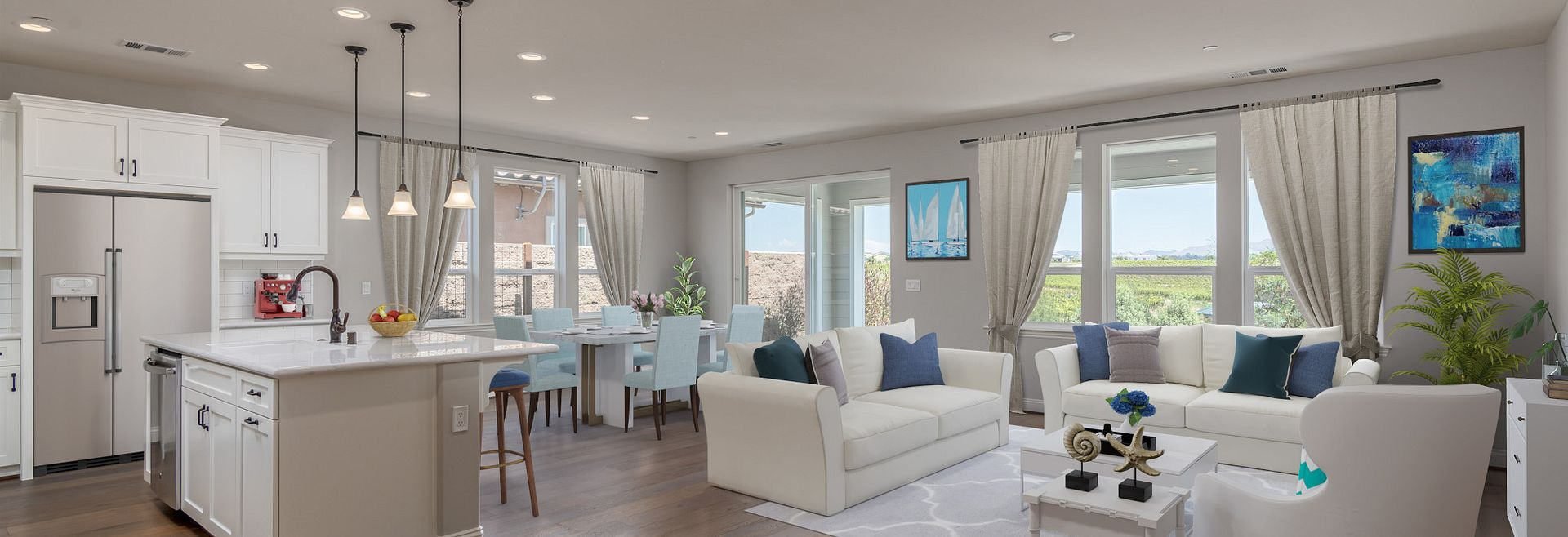 Trilogy Monarch Dunes Solvang Virtually Staged Great Room