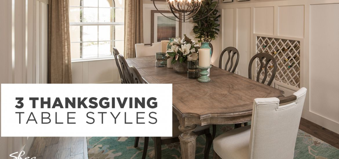 3 Thanksgiving Table Styles