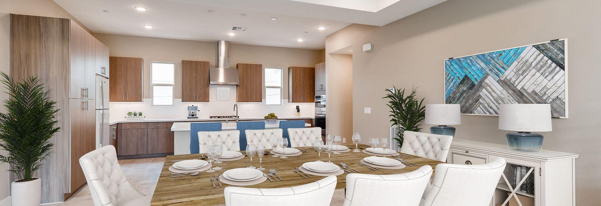 Trilogy Summerlin Splendor Virtually Staged Dining Room