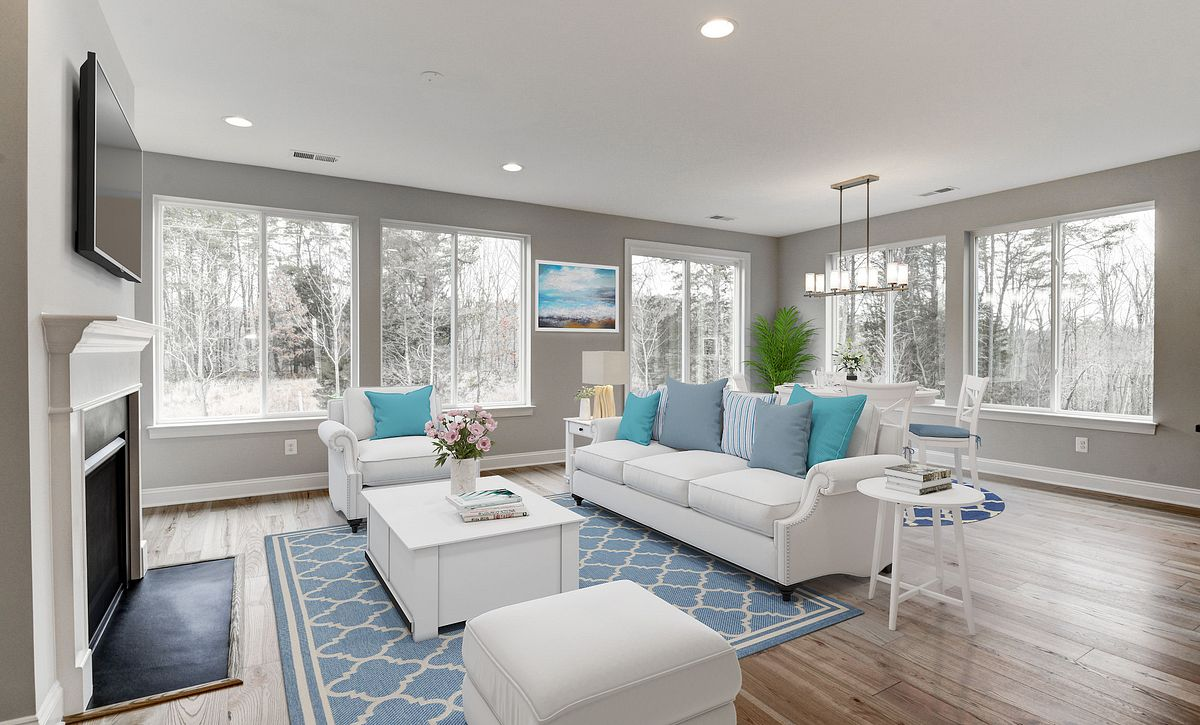 Trilogy at Lake Fredrick Quick Move In Refresh Plan Virtually Staged Great Room