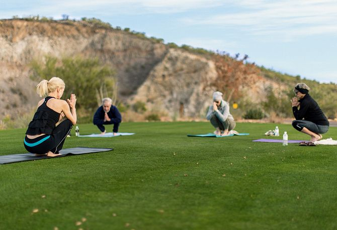 Homeowners on Meditation Lawn