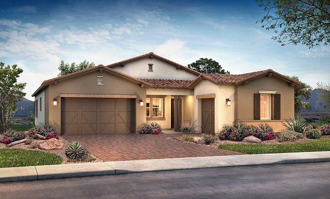 Plan 5011 Exterior B: Adobe Ranch