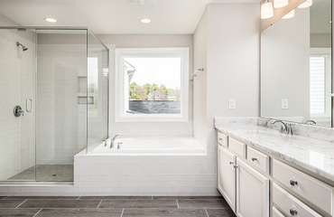 Weston Plan Owner's Bath with tub and shower