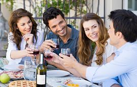 Homeowners Drinking Wine