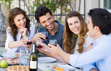 Homeowners Drinking Wine Together