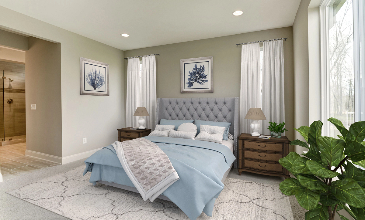 Trilogy Lake Frederick Quick Move In Home Nice Virtually Staged Master Bed