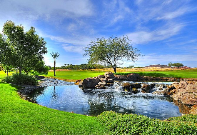 Water Features at Vistancia Golf Course