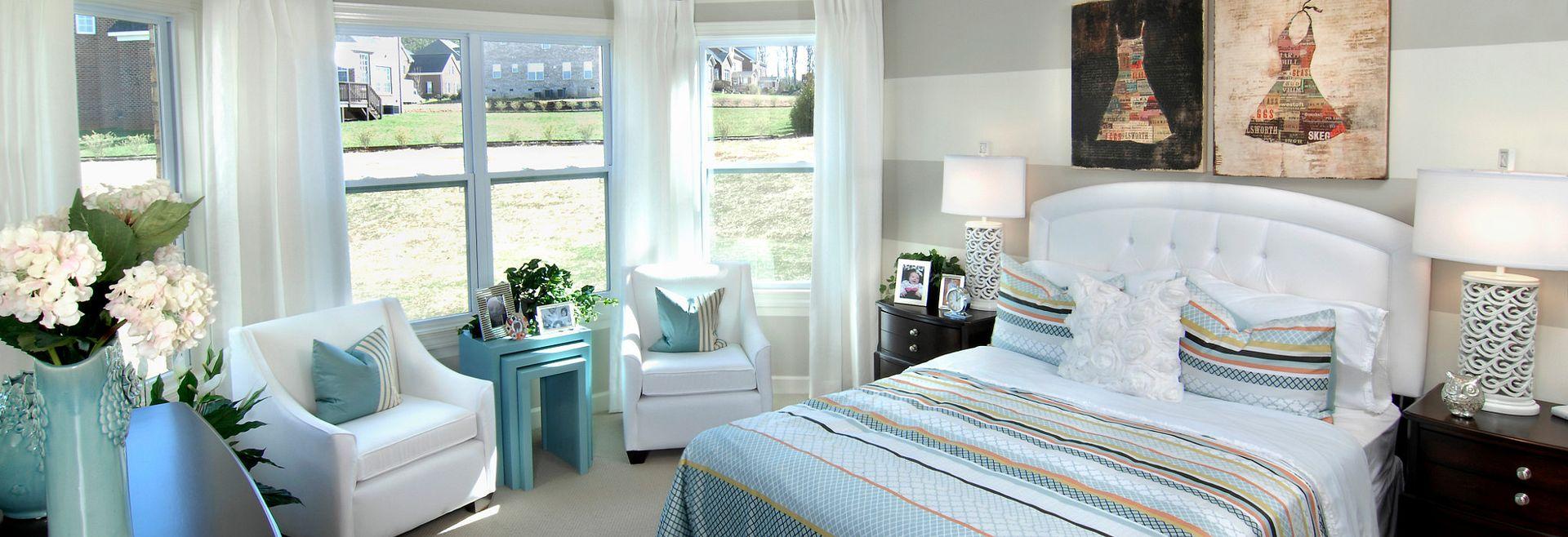 Silverado plan Bedroom 4 with bay window