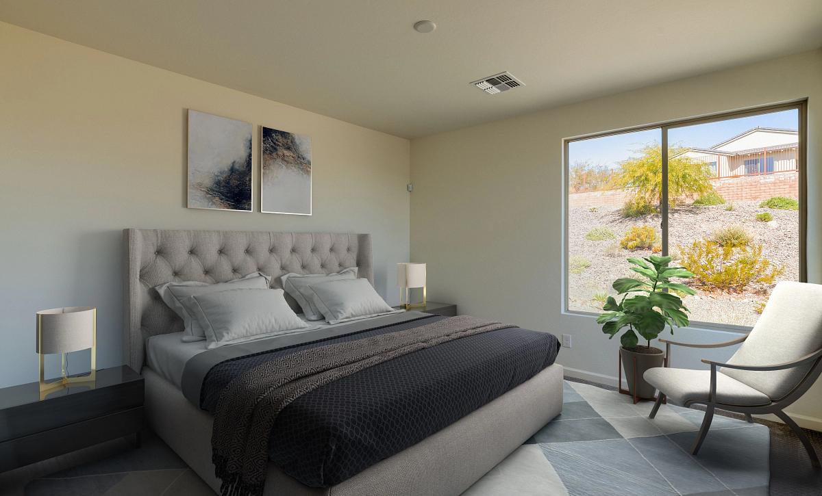 Virtually Rendered Master Bedroom