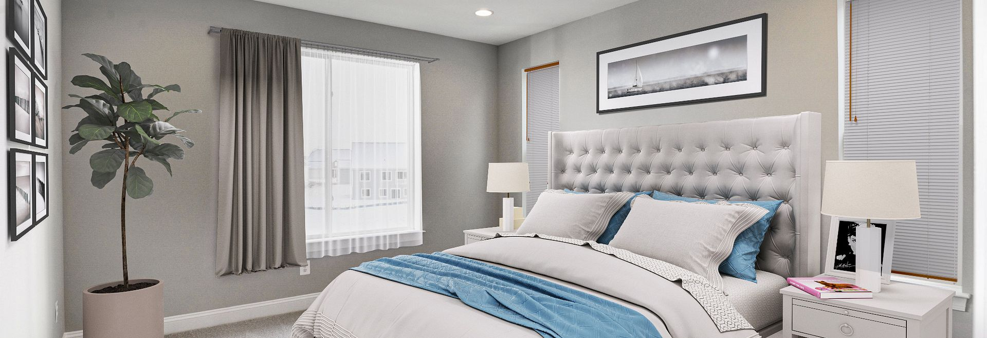 Trilogy at Lake Frederick Virtually Staged Master Bed