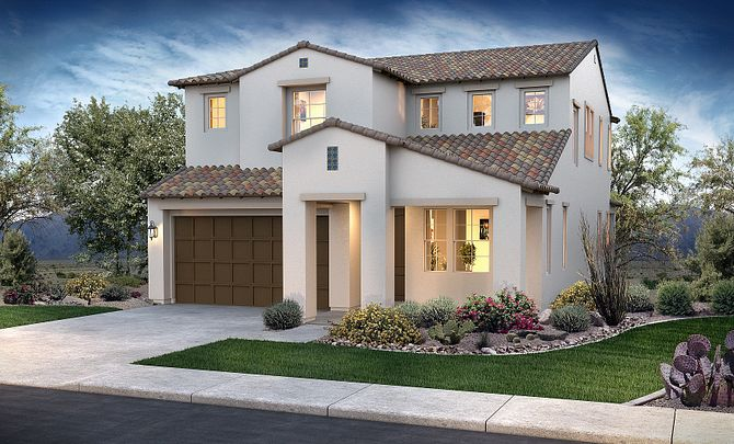 Ambition at Eastmark Hope Plan 3583 Early Spanish Exterior A