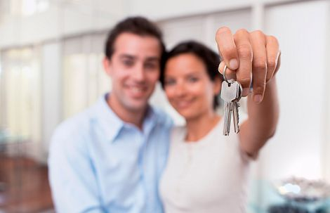 Young Couple with Keys