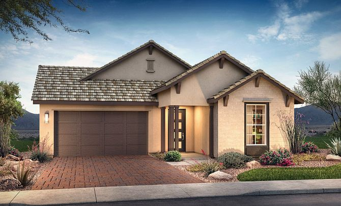 Plan 4013 Exterior C: Hill Country