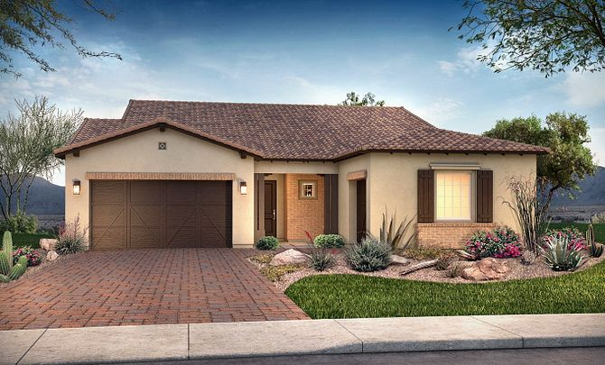 Plan 5013 Exterior B: Adobe Ranch