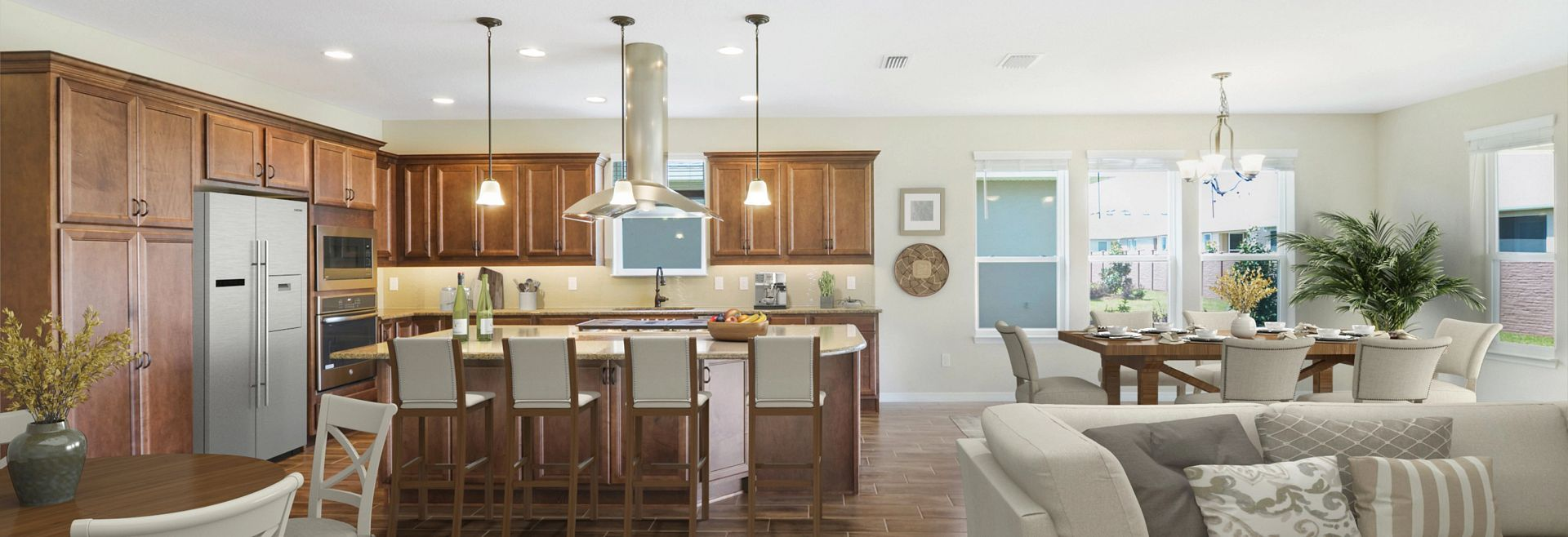 Trilogy at Ocala Preserve Quick Move In Home Virtually Staged Great Room