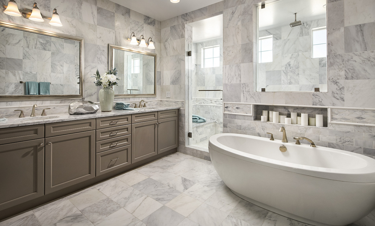 Stepping Stone Stonewalk Evergold Master Bath