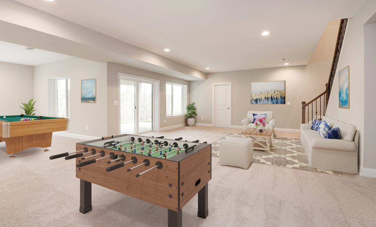 Trilogy at Lake Frederick Quick Move In Home Henley Plan Lower Level