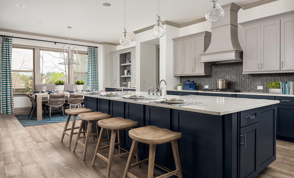 Amherst plan Kitchen & Breakfast Room