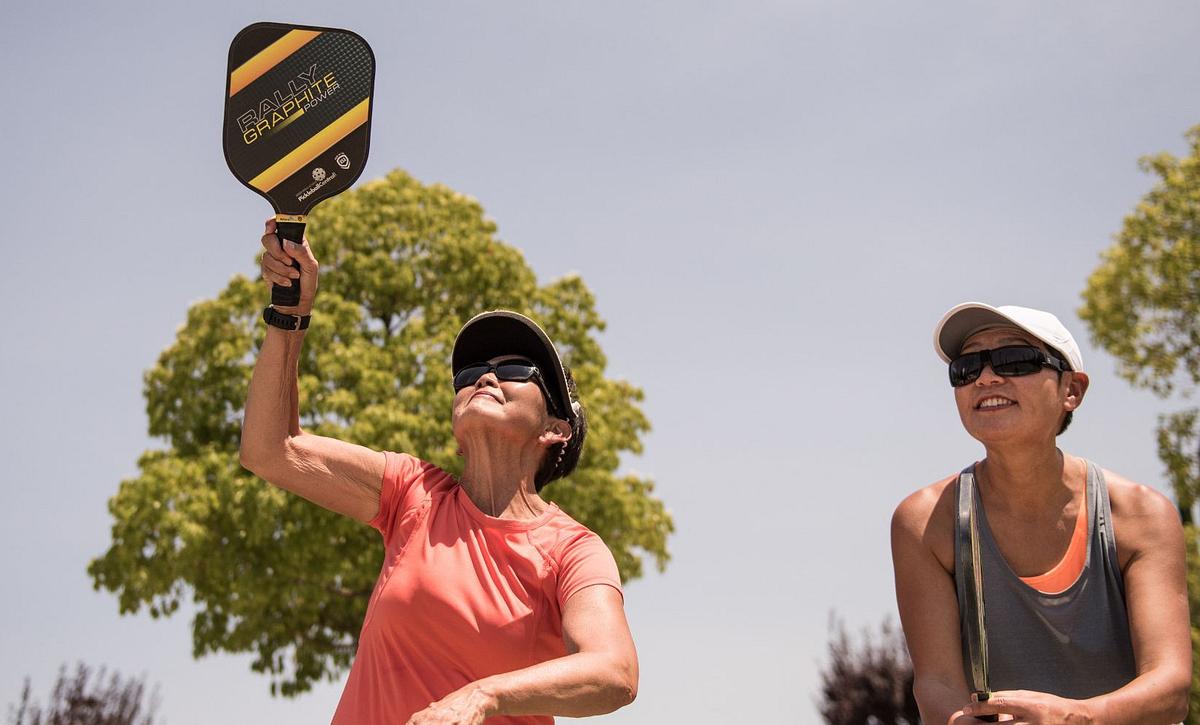Women Playing Pickle Ball