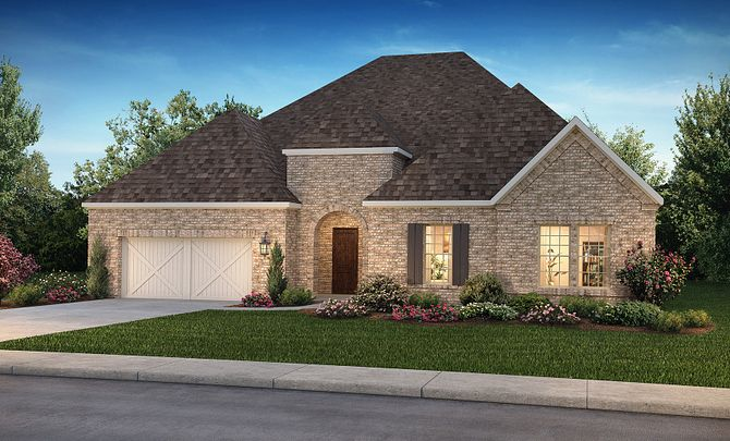 Plan 6010 Elevation C: Texas Traditional
